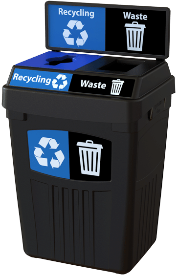 Flex-E™ bin with clear labels and graphics