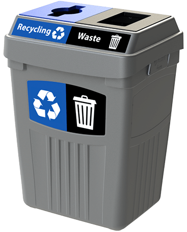 CleanRiver Transition® bin with two streams for recycling and waste